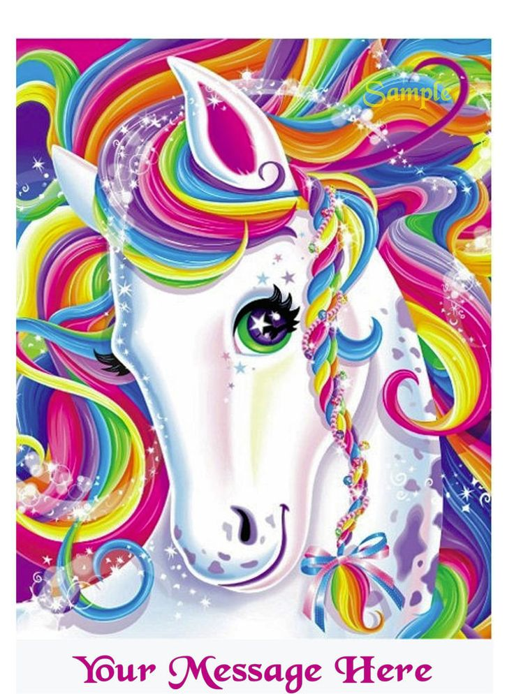 Lisa Frank Rainbow Horse Birthday Cake