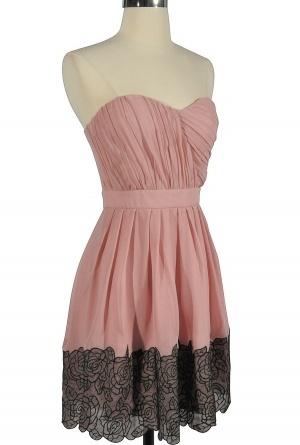Bridal shower dress?: Black Lace, Black Rose, Bridesmaid Dresses, Bridal Gowns, Bridal Shower Dresses, Bride Dresses, Chiffon Dresses, Beautiful Bridesmaid, Pink Black