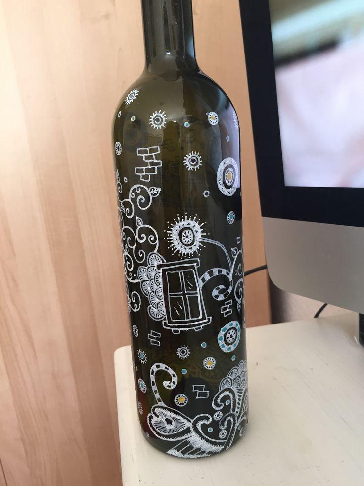 Wine Bottle, Edding 780 and nail polish