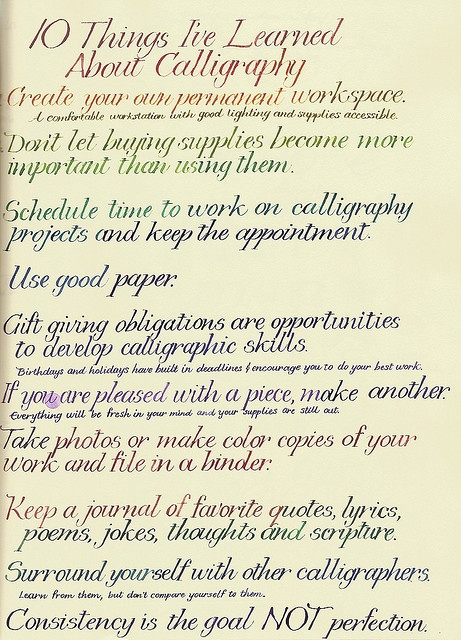 10 Things I've Learned About Calligraphy by Jane Farr