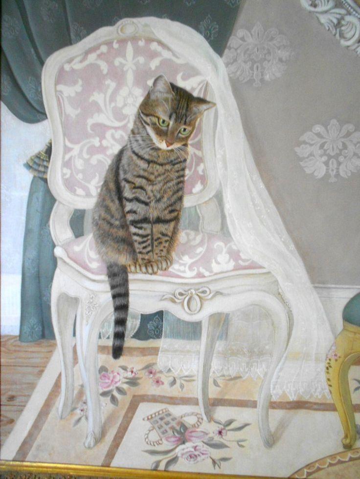 Ritratto di Kitty Fiore e Robin (particolare) www.angelagiulianidecorazioni.it