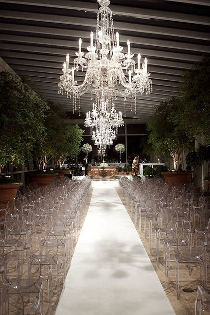 Breathtaking wedding ceremony setting. If only I can find a chandelier of that type at a low cost