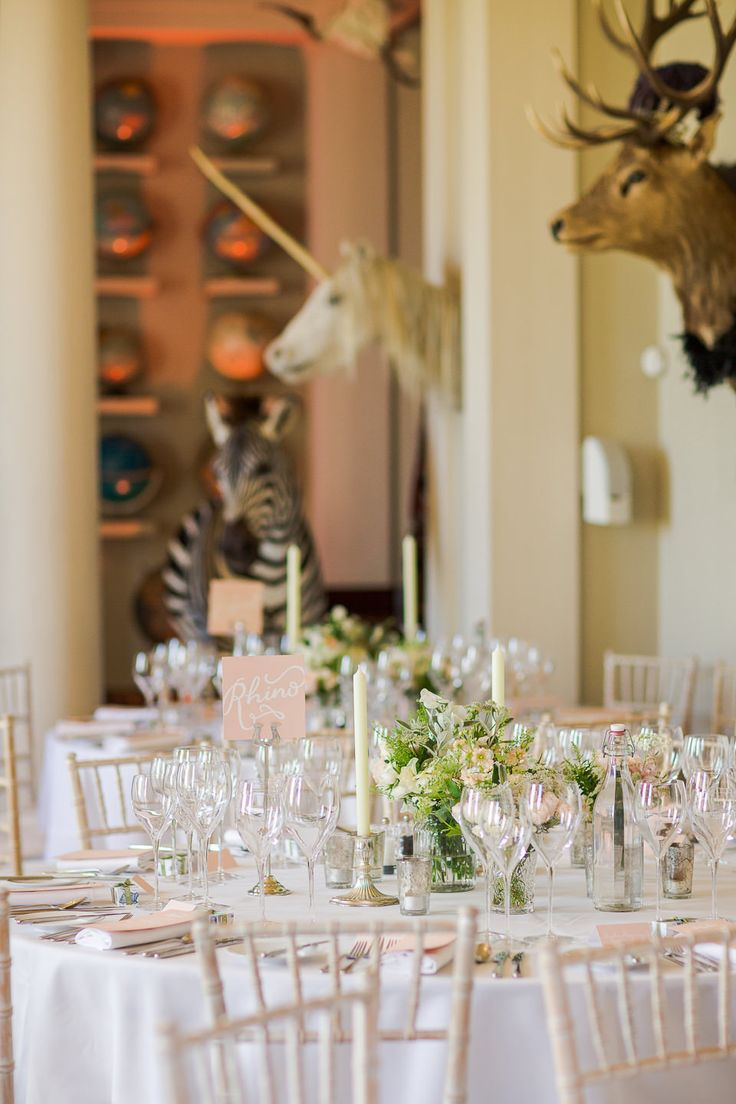 Elegant Wedding Breakfast Reception at Aynhoe Park Country House   Classic Wedding   Images by Marianne Taylor Photography   http://www.rockmywedding.co.uk/james-katie/