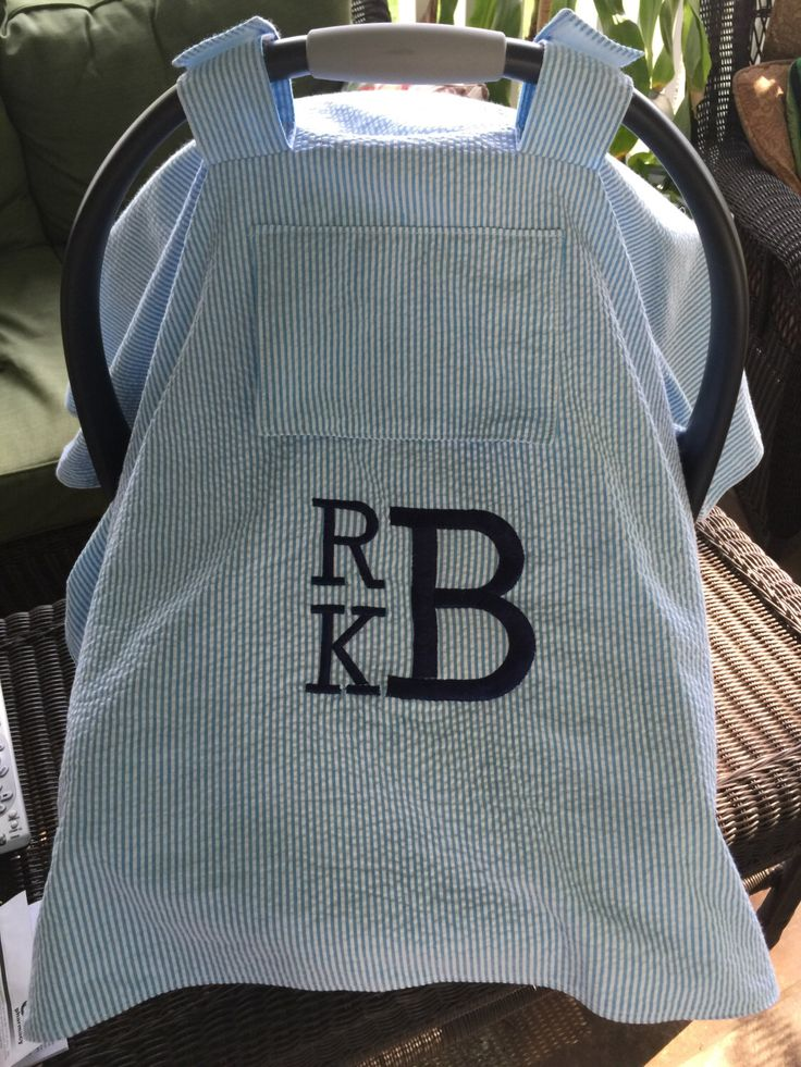 Baby Car Seat Carrier Cover with Peep Window/ Car Seat Cover/Cotton Seersucker/Baby Boy/ Monogram/ Canopy/ Infant Car Seat/ Baby Shower Gift by DelicateHeirlooms on Etsy https://www.etsy.com/listing/398061627/baby-car-seat-carrier-cover-with-peep