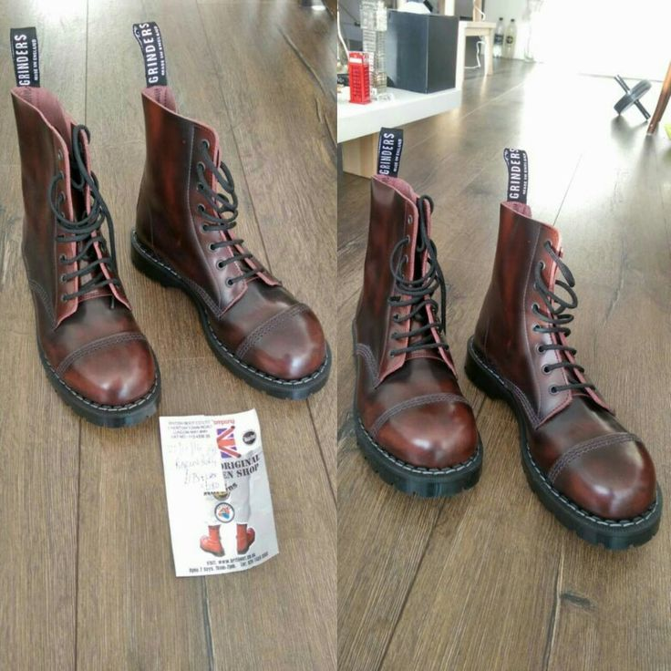 Grinders Burgendy Punk Boots. Not my size EU 43, so for sale. These shoes are new
