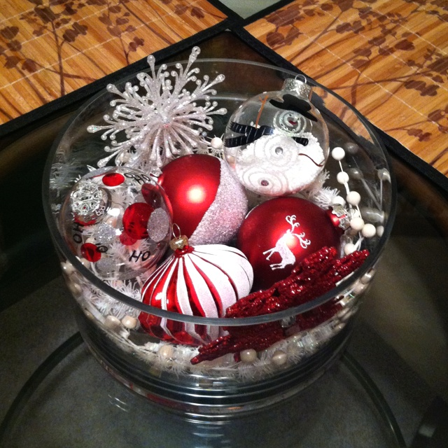 Diy Christmas Centerpiece Christmas Pinterest