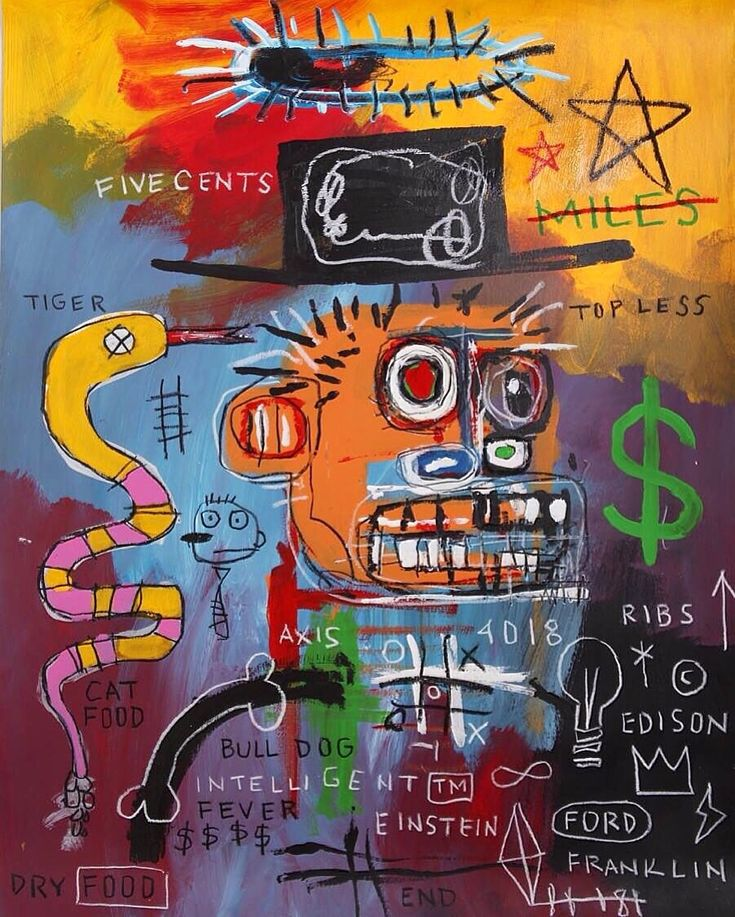 JEAN MICHEL BASQUIAT; SIGNED ON THE BACK AND DATED 85