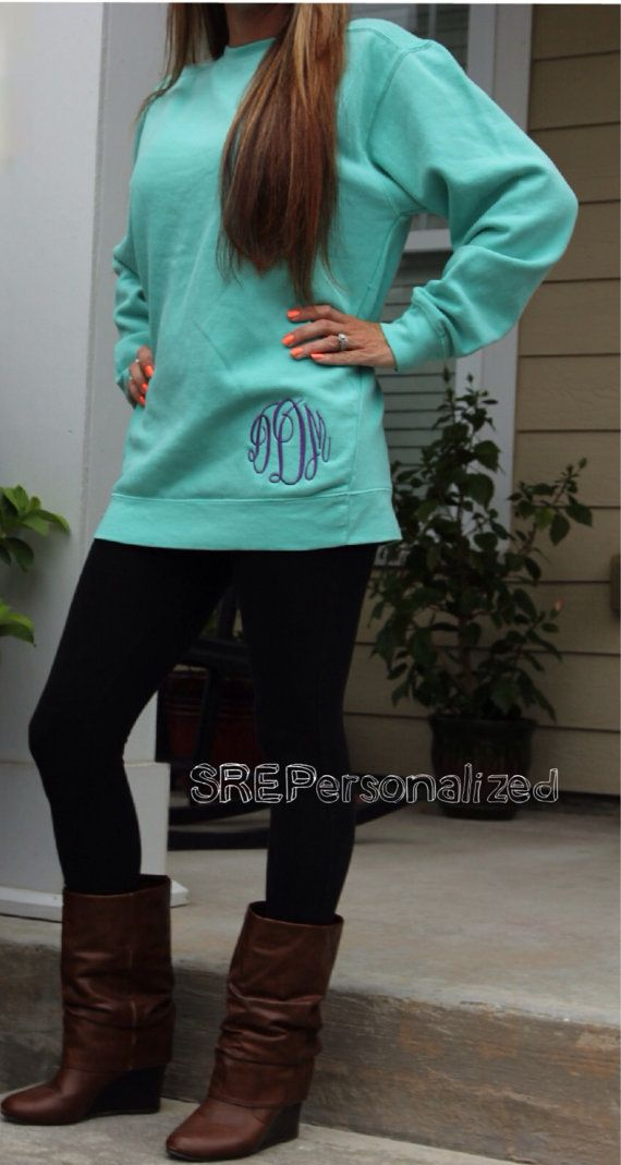 Personalized Monogrammed Comfort Color... Want this!!