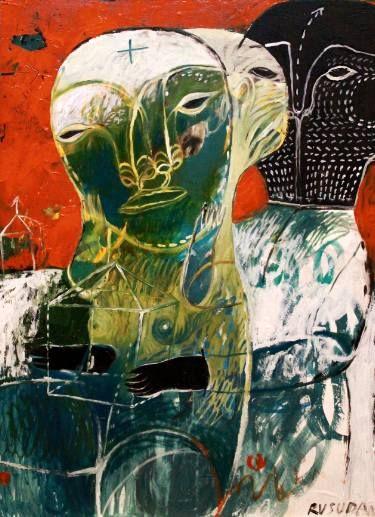 "Saatchi Art Artist Rusudan Khizanishvili; Painting, ""Dance for Rain"" #art"