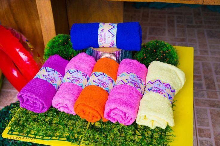 personalizados: toalhas de banho como lembrancinhas