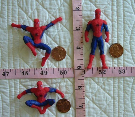 BIG Spider Man Set or Pick One Food Grade Safe Silicone Mold Cake Tool Fondant Gum Paste Pastillage Chocolate Candy N more Craft tool for Resin Plaster Clay N more by MoldCreationsNmore on Etsy.com