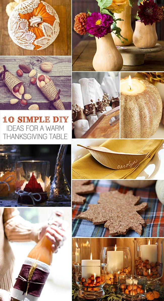 [Junta] Inspiration 10 DIYs simples para una cordial tabla de Acción de Gracias