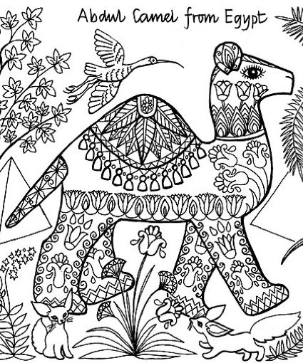 Animals Of The World Coloring Pages