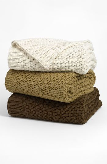 Nordstrom Grand Hand Knit Throw available at #Nordstrom  Looks so cozy!