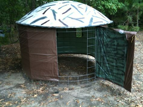 Sat. dish/cattle panel blind - TexasBowhunter.com Community Discussion Forums