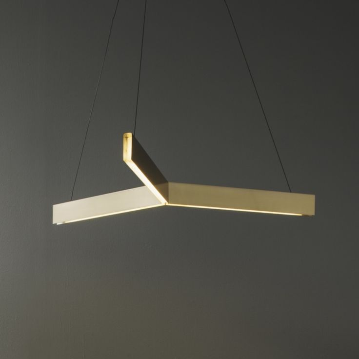 Cross U0026 Tri Pendants By Resident Studio Made Of Brass And Aluminum  Channels, With A Recessed And Diffused LED Light Source.
