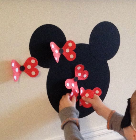 Pin the Bow on the Minnie Game - Minnie Mouse Game