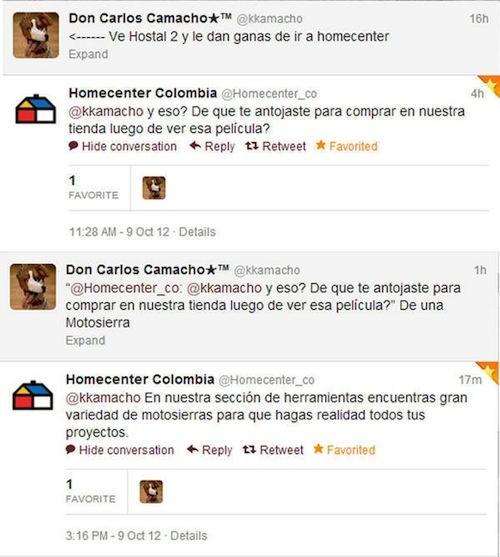 Un caso que aun no se puede catalogar como #CrisisDeReputación, porque aumentó la popularidad de #Homecenter en #Colombia.2012.
