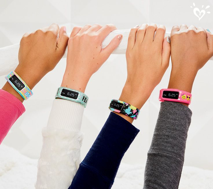 The gift that counts and catches all the action. Justice Exclusive Activity Trackers do more to keep her healthy.