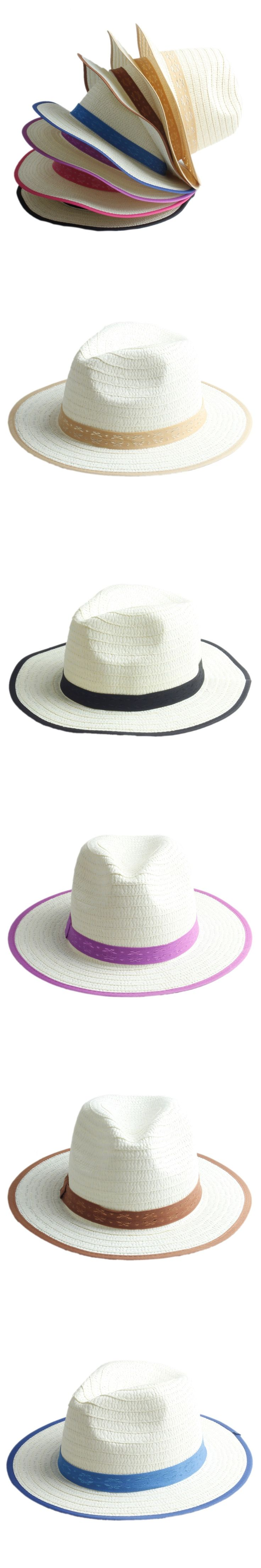 Fashion Summer Child Straw Fedora Hats Trilby Gangster Cap Boy girl wide Brim Sunhat Kids Beach hat Panama Hat Good Package 18