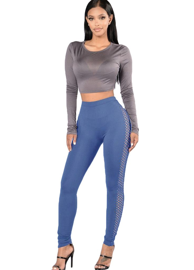 Chic Side Hollow Out Skinny Leggings_Women Leggings_Women Clothes_Sexy Lingeire | Cheap Plus Size Lingerie At Wholesale Price | Feelovely.com