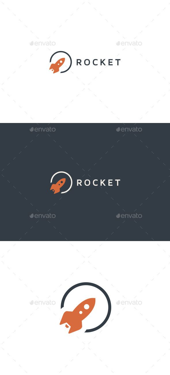 Rocket Logo Template — Vector EPS #lunch #outer space • Available here → https://graphicriver.net/item/rocket-logo-template/10020776?ref=pxcr