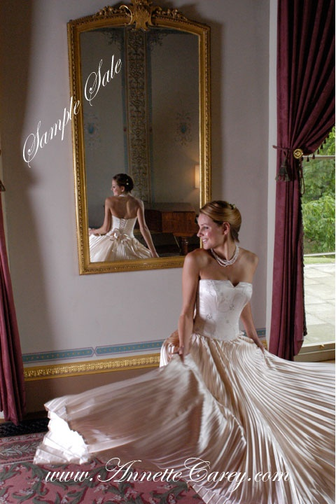 To make for you from £1,995.   Sample sale dresses in size 10 - 12, have been tried on in design salon, available for £350.
