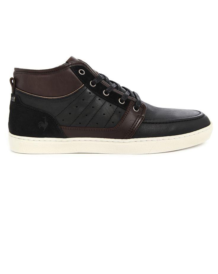 Black Semi-Leather Perpignan LE COQ SPORTIF