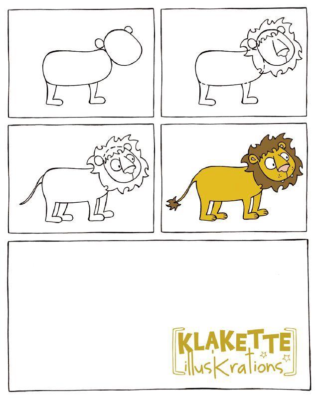leeuw tekenen met kleuters