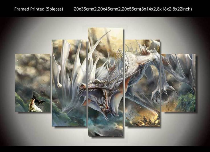 ==> [Free Shipping] Buy Best HD printed 5 panel Animation Dragon Painting wall art home decoration print poster picture canvas Free shipping/up-127 Online with LOWEST Price | 2041239851