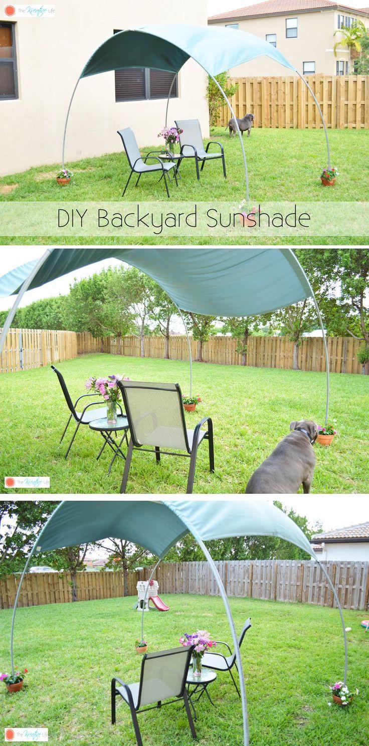 DIY Backyard Sunshade ............. #DIY #shade #cover #backyard #outdoor #sunshade #garden #crafts