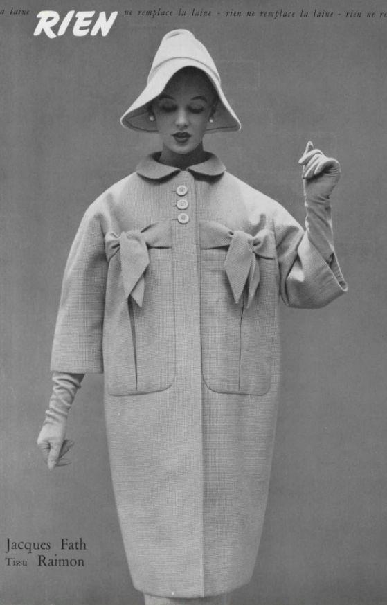 1954 - Jacques Fath coat
