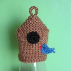 Innocent Smoothies Big Knit Hat Patterns Bird House