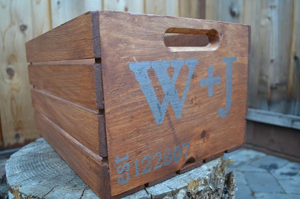 personalized rustic wood crate crafts pinterest