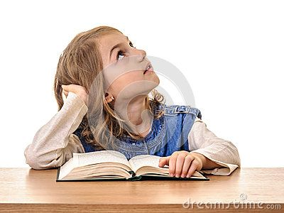Beautiful Child Girl At School Looking Up - Download From Over 24 Million High Quality Stock Photos, Images, Vectors. Sign up for FREE today. Image: 35475786
