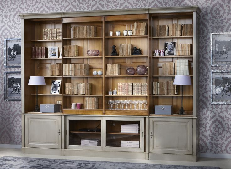 Directoire Sliding Shelves Tv Custom Wall Unit Grange
