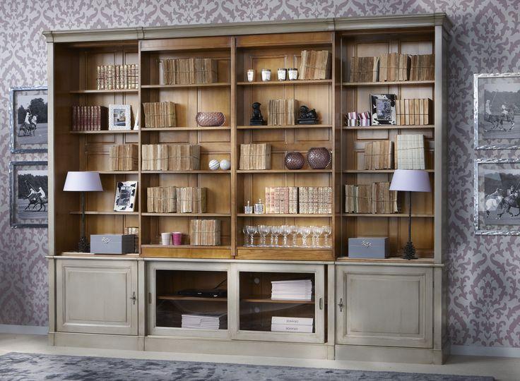 Directoire Sliding Shelves TV Custom Wall Unit | Modular