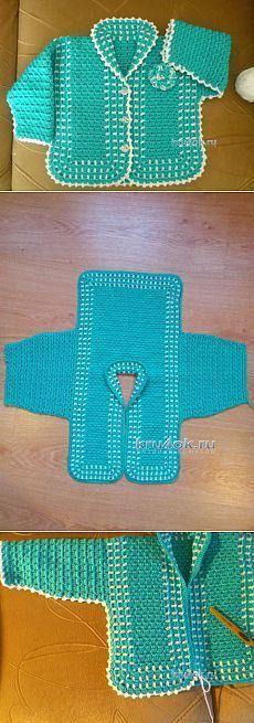 Детская кофточка крючком — работа Еbaby sweatersлены Аферовой - вязание крючком на kru4ok.ru