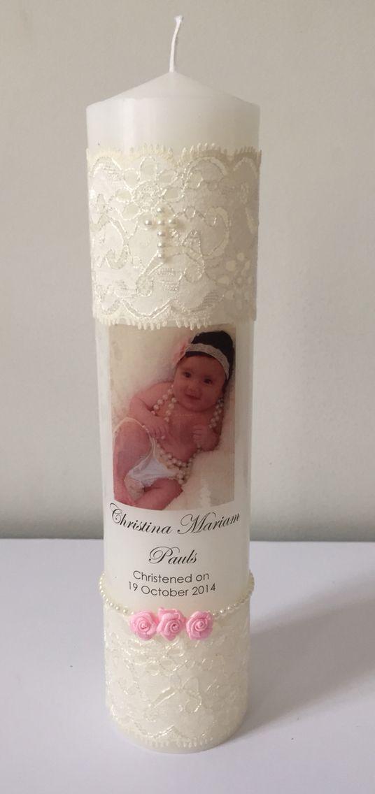 Christening/baptismal candle