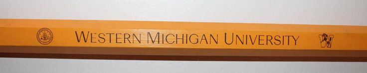Monumental Pencil Advertising Western Michigan University | From a unique collection of antique and modern signs at https://www.1stdibs.com/furniture/folk-art/signs/