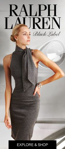 Ralph Lauren Magazine Simple Elegance! ....I love this dress so I have to repin it once in a while....