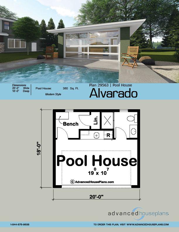 Pool House Plan Alvarado Modern Pool House Pool House Plans Pool House Designs Plans for a small pool house