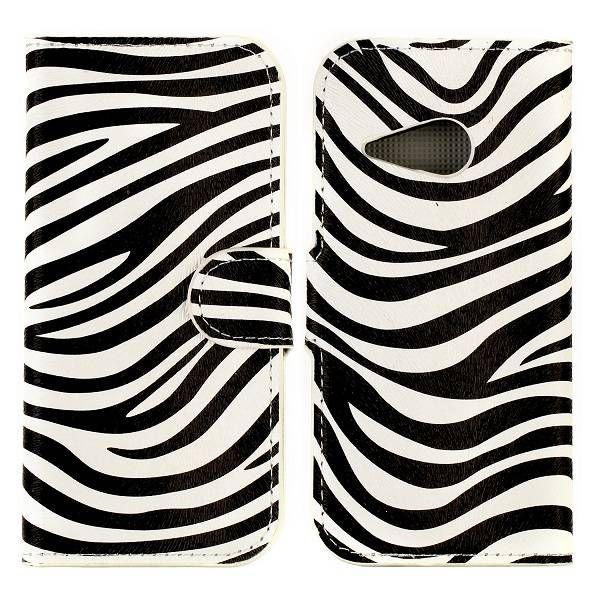 Zebra patroon booktype hoesje voor HTC One Mini 2