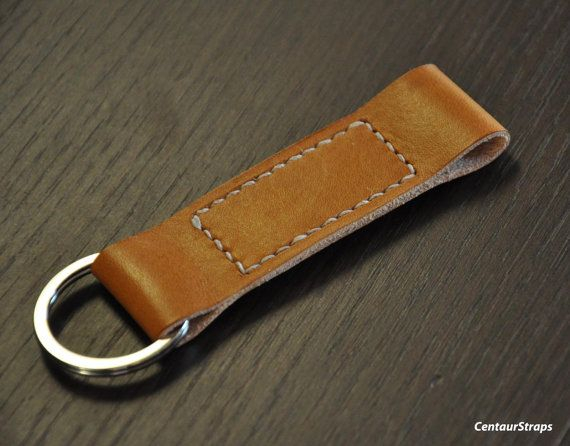 Handmade leather keychain leather key fob with by CentaurStraps, €13.00