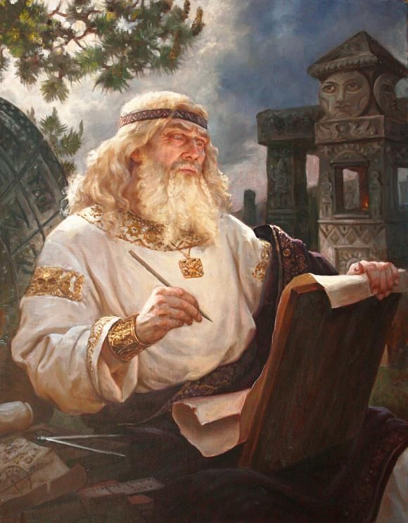 Chislobog (Chislobog - in Slavic mythology - the god of time and zvezdochetstva, letters, numbers, calendar and everything connected with it. It came to him in the conspiracy and magical rites.)