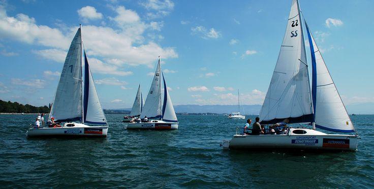 Segeln auf Bavaria-Yacht auf dem Bodensee in Kressbronn  #Schiff #Meer #Seefahrt