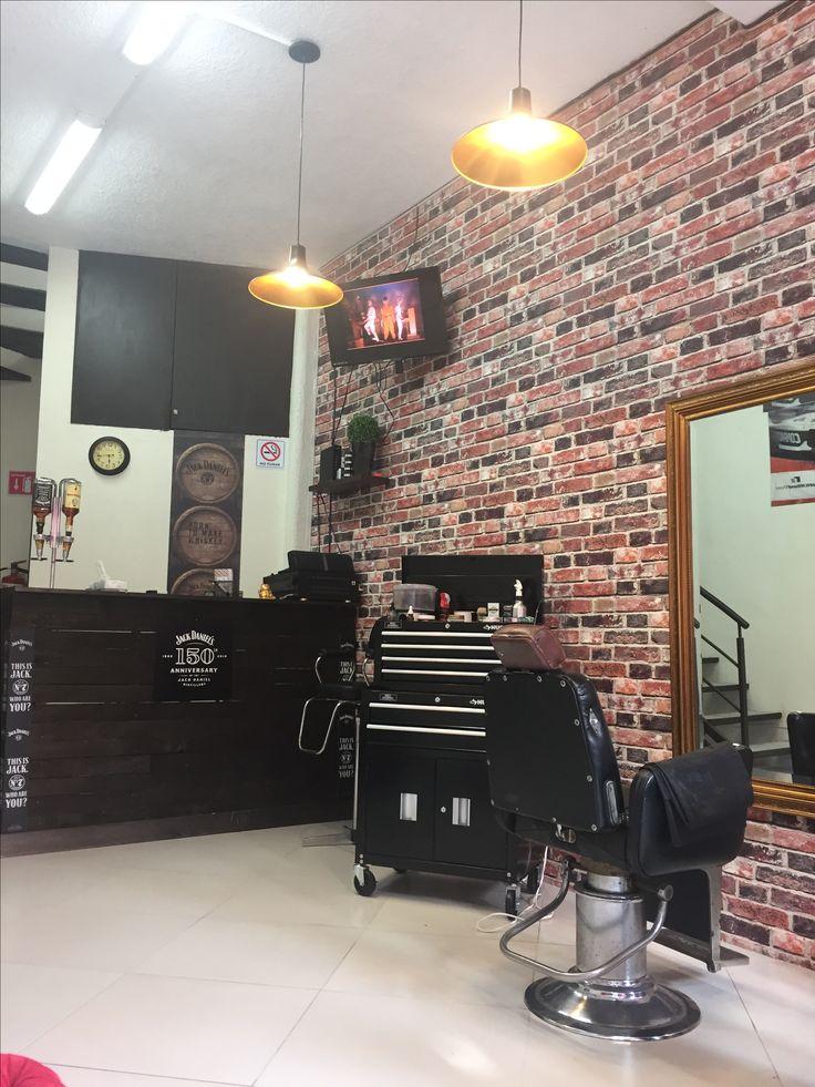 Gypsum Design, Mobile Barber, Beard Barber, Cool Back Tattoos, Barbers Cut, Barbershop Design, Beauty Salon Design, Home Salon, Home Studio