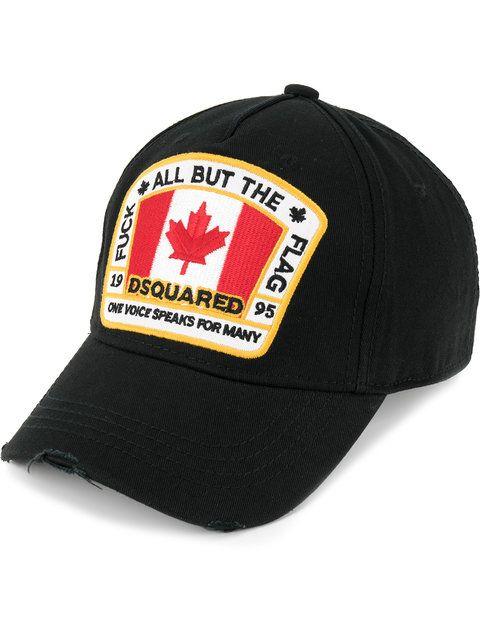 23b186519 DSQUARED2 Canadian flag patch baseball cap. #dsquared2 #   Dsquared2 ...