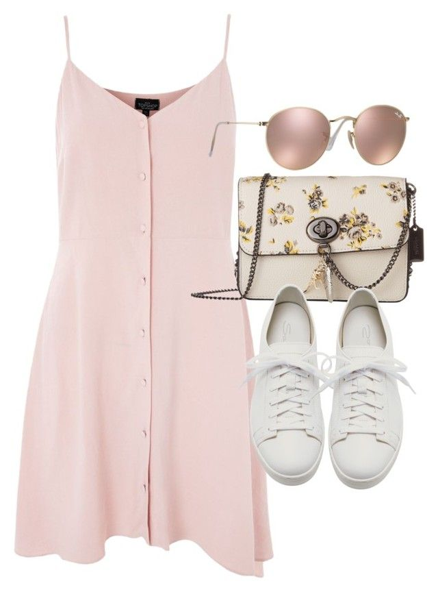 """Untitled #21775"" by florencia95 ❤ liked on Polyvore featuring Topshop, Coach, Santoni and Ray-Ban"