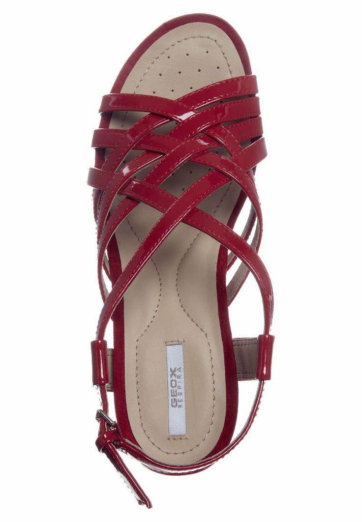 Geox NEW ROXY - Sandaletter med kilklack - Rött - Zalando.se